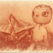 Не кукольная история о самодельных куклах их ткани. Начало - часть первая