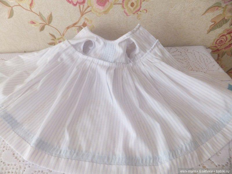 Платье с голубым кружевом 3