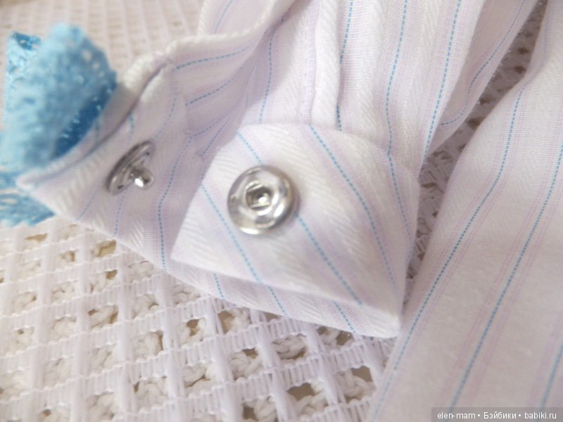 Платье с голубым кружевом 6
