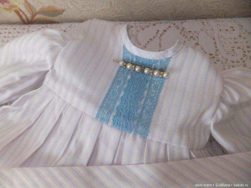 Платье с голубым кружевом 2