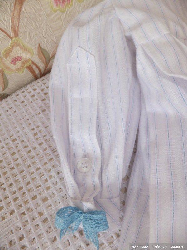 Платье с голубым кружевом 5