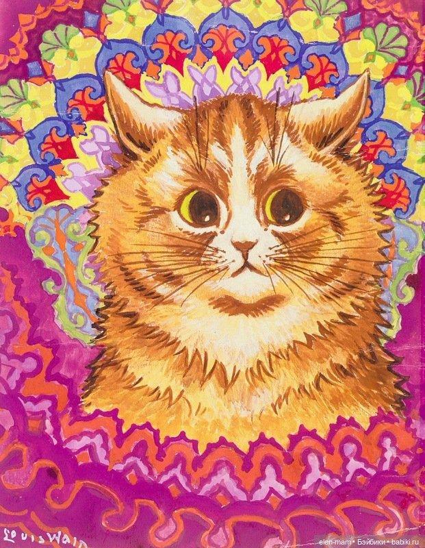 рыжий кот, узор