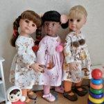 """""""Детский сад"""". Платья для кукол Gotz, Готц и подобных"""