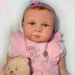 Моя Виолетка, кукла реборн с росписанными волосиками