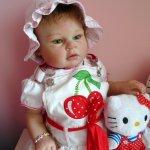Кукла реборн Инес - малышка модница