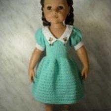МК по вязанию платья для кукол Готц