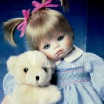 "Голубоглазая малышка Ханна с медвежонком ""Hannah Needs a Hug!"""