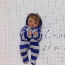 Малыш, мини кукла ручной работы