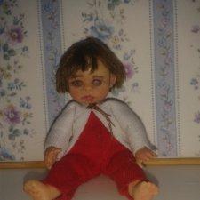 Даша-путешественница, авторская мини кукла своими руками