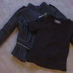 Куртка кожзам в готическом стиле и майка от Iplehouse