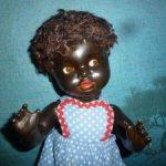 Старинная кукла чудесный негритенок от K & W - König & Wernicke Говорит!
