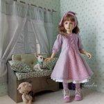 """""""Лиловый""""- комплект для Rosa от Dollshe Craft."""