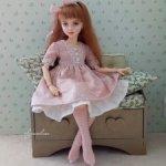 """Нежность""- платье для кукол Чам от Dust of dolls, Iplehouse Kid, mini Missy Kaye Wiggs 35 см."