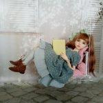 """""""Утренний туман""""- платье для кукол Cham Dust of dolls, Iplehouse Kid, mini Missy Kaye Wiggs 35 см."""
