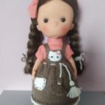 Сарафан,вяз.обувь,завязочки на Miss minis 26см или др кукол схожего телосложения и размера