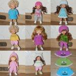 Вязаная одежда для малышей бжд 14-16 см