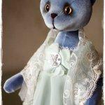 Голубая Кошка Анфиска... Авторская игрушка