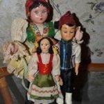 Лот кукол в народных костюмах мира.