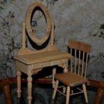 Комплект мебели для кукол под покраску или декупаж.