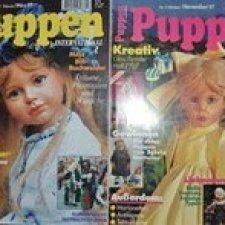 """Глянцевый немецкий журнал """"Puppen"""" №1,№5 1997 год."""
