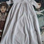 Винтажное крестильное платье для пошива одежды антикварным куклам