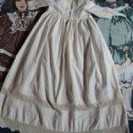 Старинное крестильное платье для пошива одежды антикварным куклам