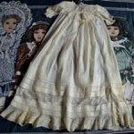 Старинное крестильное платье с морем кружев для пошива одежды антикварным куклам