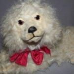 Редкость! Большая французская антикварная «пижамная» собака-контейнер