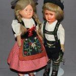Довоенная антикварная кукла из папье-маше, all original