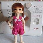 Мастер-класс по пошиву летнего комбинезона для куклы Литтлфи (BJD Fairyland LittleFee). Выкройка