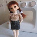 Готовимся к лету - шьём лёгкую блузу для куклы Литтлфи (BJD Fairyland LittleFee). Мастер-класс, выкройка