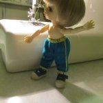 Спортивные штанишки для куклы Пукифишки (pukiFee FairyLand BJD). Мастер-класс, выкройка