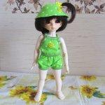 Летний костюмчик-тройка для куклы Литтлфи (BJD Fairyland LittleFee Baby). Мастер-класс, выкройка