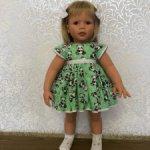 Комплект Пандочки  для куклы Lee Middleton 56-62 см.