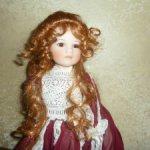 Великолепная фарфоровая кукла из Италии
