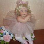 Прелестная Розочка-балеринка, очень нежная куколка