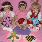 Позитивные малышки. Ханни от Инге Тенбуш, Санни от Monika Levenig, Bethany от Laura Tuzio-Ross