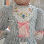 """- 20% Платье для большой антикварной куклы или реплики  ростом 28"""" за 4080 р"""