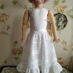 нижнее белье для антикварной куклы или реплики, платьице + штанишки