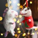Боб и Джонни на елку, авторские игрушки Татьяны Матляк.