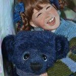 Улыбнёмся вместе с авторской куклой от Джуди Тернер
