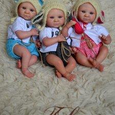 Тройняшки мини реборн Татьяны Латашевской