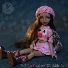 "Шарнирная авторская кукла ""Лола"" (20см), от KKeRRin-Dolls"