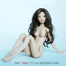 """Шарнирная авторская кукла """"Мика"""" (27см, сменные глазки, ПУ), от KKeRRin-Dolls"""