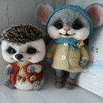 Ёжик и мышка