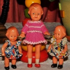 Антикварные куколки 50-х годов Edi. (Erich Dittmann) -колкий пластик. Германия.Цена за одну.