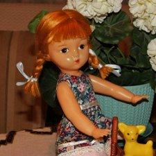 кукла СССР 32 см ф-ка Аским. Ранняя на резинках.
