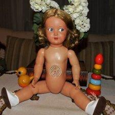 Редкая,антикварная кукла Schildkrot (Черепашка) ,с флиртующими глазами,начала 50-х.