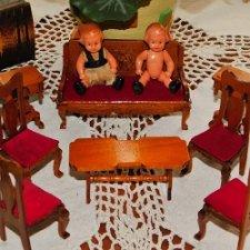Винтажная,немецкая ,деревянная мебель для пупиков. В упаковке.