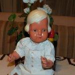 Крупная,антикварная,немецкая кукла Cellba( редкий молд).40-е годы.+ антикварное платье.